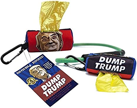 Amazon.com: Dump Trump – Perro Poo Dispensador de bolsas ...