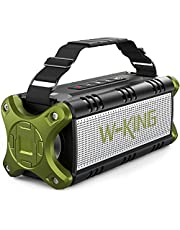 W-KING 50W Bluetooth Speaker, Loud Portable Speaker Waterproof IPX6 with 24H Playtime/8000mAh Power Bank/, Punchy Bass Outdoor Wireless Speakers Boombox Support TF-Card/AUX/NFC/Hands-Free Calling