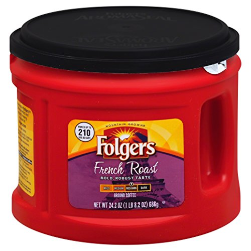 Folgers French Roast Ground Coffee  Medium Dark Roast  24 2 Ounce