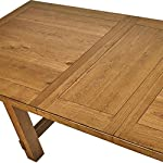 "Amazon Brand – Stone & Beam Parson Wood Trestle Dining Table, 78""-96""L, Oak Finish"