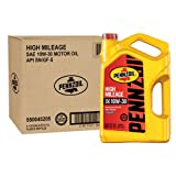 Pennzoil 550045205-3PK 5 quart 10W-30 High Mileage Motor Oil (SN Jug 3pk.)
