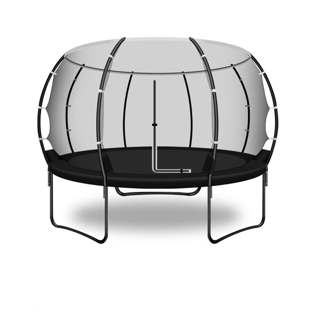 保護ネットの跳躍のベッドが付いているトランポリンの屋内屋外の大きい大人の子供(黒) B07NQ87ZZW