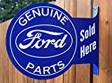 Ford Genuine Parts Sold Here Double Sided Flange Sign