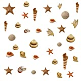 RoomMates RMK1259SCS Sea Shells Peel & Stick Wall Decals