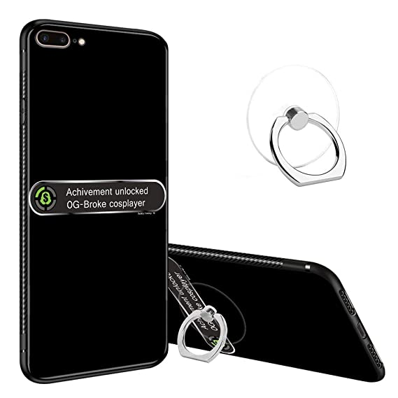 timeless design 4875a 2f217 Amazon.com: iPhone 8 Plus Case, iPhone 7 Plus Tempered Glass Back ...
