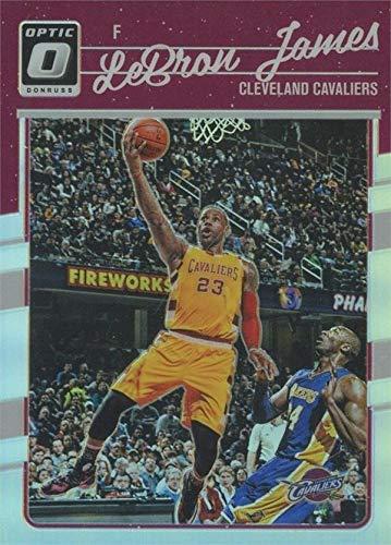 Lebron James basketball card (Cleveland Cavaliers, All Star) 2017 Donruss Optic Chrome #15