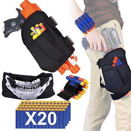 POKONBOY Kids Tactical Waist Bag Compatible with Nerf Holster Kit, Blaster Holster and Dart Wrister Kit with Bullets Compatible Nerf -