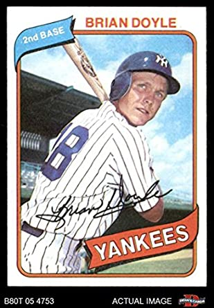 Amazoncom 1980 Topps 582 Brian Doyle New York Yankees Baseball
