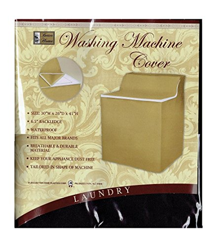 Price comparison product image Better Home Xlarge Fabric Waterproof Washing Machine Cover with Zippered Top Material Appliance (Chocolate Brown)