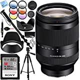 Sony SEL24240 FE 24-240mm F3.5-6.3 OSS Full-frame E-mount Telephoto Zoom Lens with Sony 32GB UHS II SD Card Plus 72mm Filter Sets Bundle