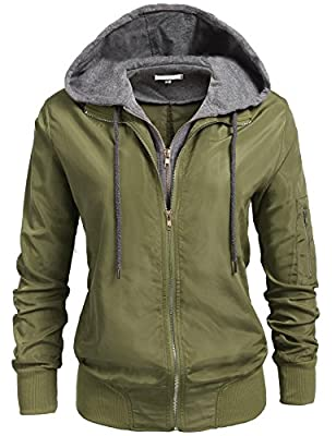 ELOVER Womens Relaxed Fit Zip Up Hoodie Jacket S-XXL