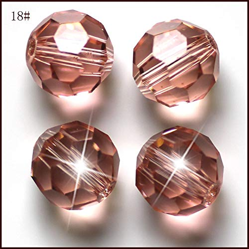 Color: Topaz, Item Diameter: 10mm Pukido DIY Jewelry Bead 10mm Football Style Wonderful Color Crystal Glass Bead AAA