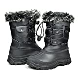 DREAM PAIRS Toddler Ksnow Black Isulated Waterproof Snow Boots Size 9 M US Toddler