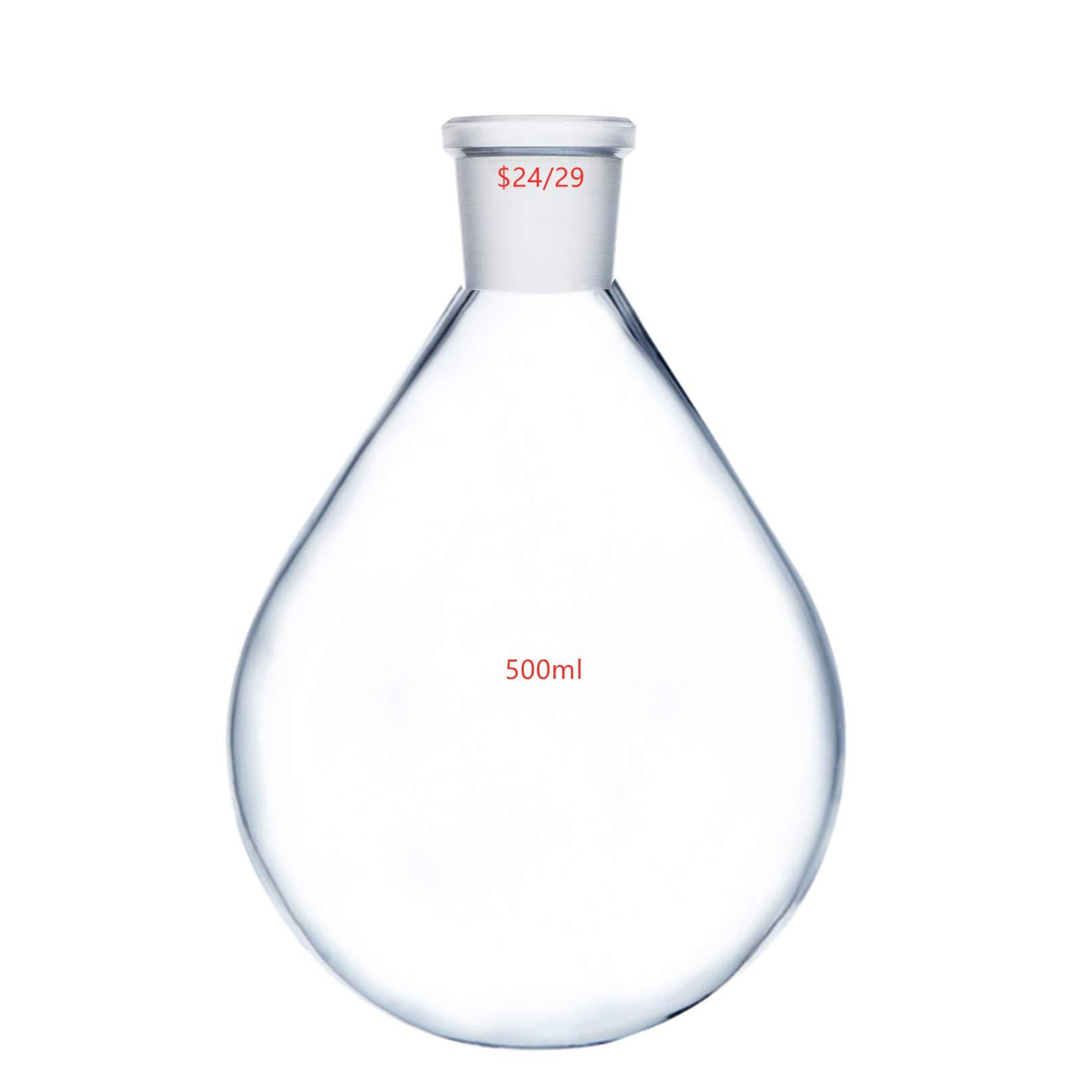 Deschem 500ml 24/29 Glass Recovery Flask Lab Rotary Evaporator Vessel Kjelda Bottle by Deschem