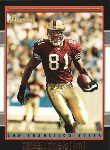 2001 Bowman Gold Football Card #48 Terrell Owens ()