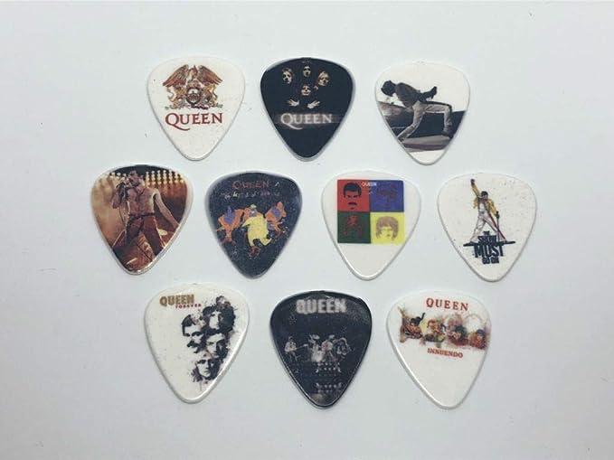 Juego de púas para guitarra Queen (10 púas/10 diseños diferentes): Amazon.es: Instrumentos musicales
