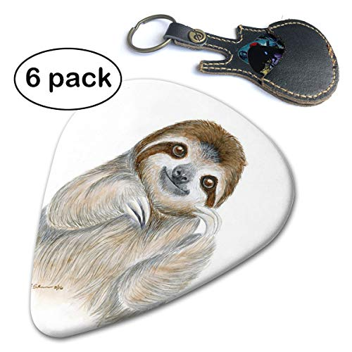 Janvonne Baby Sloth 351 Shape Classic Celluloid Guitar Picks for Guitar Bass - 6 Pack ()