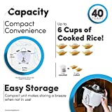 Aroma Simply Stainless Rice Cooker, White [Cooks