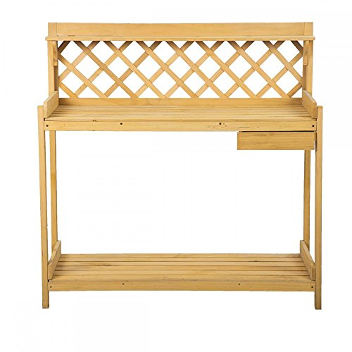 Potting Table (FDW Potting Bench Outdoor Garden Work Bench Station Planting Wood Construction)