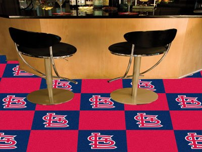 "MLB - St. Louis Cardinals Carpet Tiles 18""x18"" tiles"