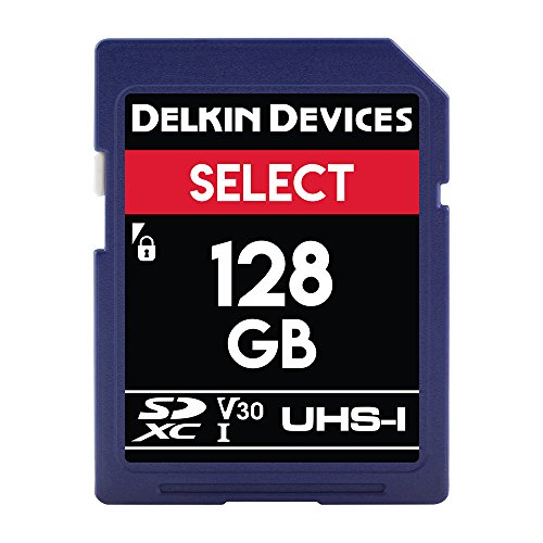 Delkin Devices 128 GB Select SDXC 266X UHS-I U1/V10 Memory Card