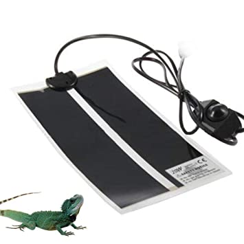 AUOKER Reptil Heat Mat, 20W Estera De Calor De Reptiles Ajustable con Control De Temperatura