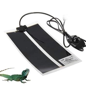 Layopo Reptil Heat Mat Calentador Reptil Ajustable Temperatura Heat Mat Calentamiento Calentador Safety Warner para Tortuga