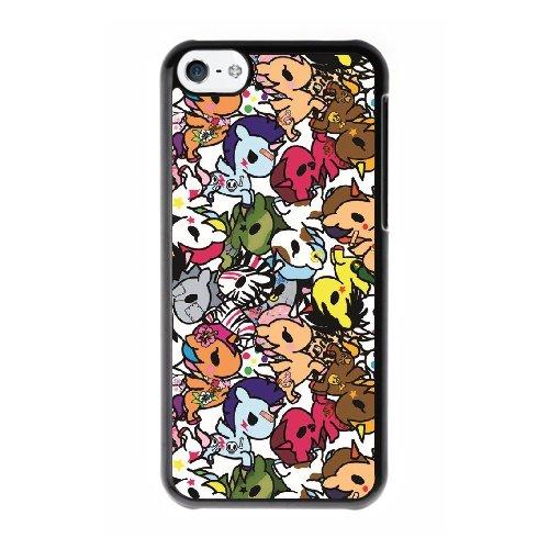 Coque,Coque iphone 5C Case Coque, Tokidoki Unicorno Series Cover For Coque iphone 5C Cell Phone Case Cover Noir