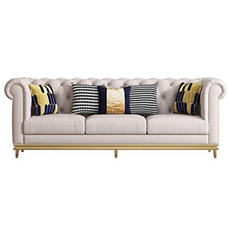 Amazon.com: XINTONGDA Sofá de sofá de tela posmoderno, sala ...