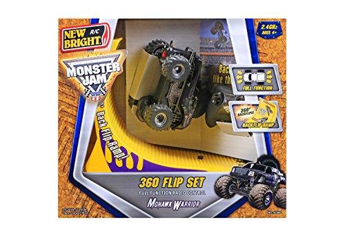Flip Set (New Bright Radio Control 1:43 Monster Jam RC Mohawk Warrior 360° Flip Set with Ramp)