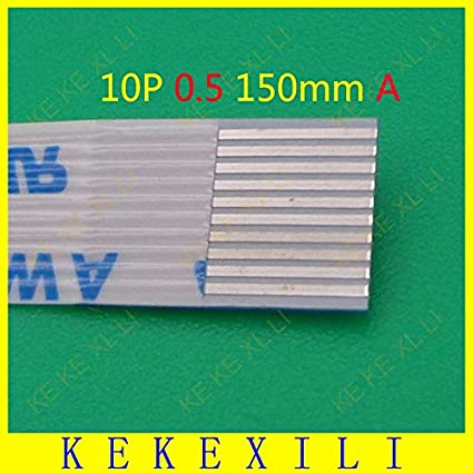 1.0mm Pitch 6-Pin 280mm Length FPC Ribbon Wire Flexible Flat Cable Set of 25