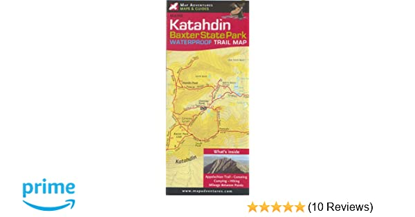 Katahdin; Baxter state Park Trail Map: Steven Bushey, Steve Bushey on military ridge wisconsin map, wild goose state trail map, perrot state park map, glacial drumlin state trail map, newton blackmour state trail map, high cliff state park map, rain forest washington state map, badger state trail map, tuscobia state trail map,