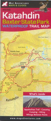 Katahdin; Baxter state Park Trail Map