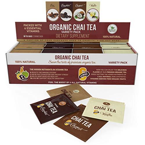 Organic Chai Tea Variety Pack - Organic Chai Tea Sampler - 8