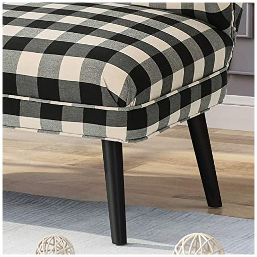 Farmhouse Living Room Furniture Christopher Knight Home Dumont Modern Farmhouse Fabric Settee, Black Checkerboard farmhouse sofas and couches