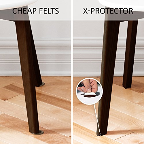 X protector premium xxl sizes pack furniture pads big Furniture wood floor protectors