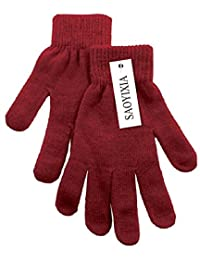 Women's Stretchy Knit Gloves & Fingerless Winter Gloves Mittens