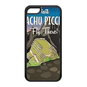 Machu Picchu Black Silicon Rubber Case for iPhone 5C by Nick Greenaway + FREE Crystal Clear Screen Protector