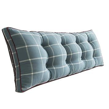 Amazon.com: Cojines respaldo almohada estilo nórdico azul ...