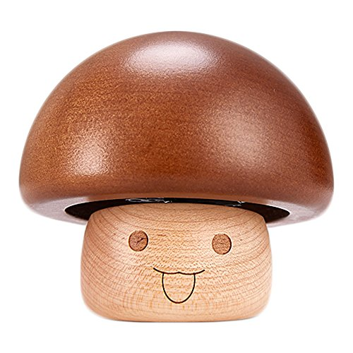 Sunyou Mini Mushroom Music Box Solid Wooden Handmade Small Home DecorativeCreative Valentine's Day, Christmas, Birthday Gifts for Kids, Friends and Family (Castle in The Sky) by Sunyou