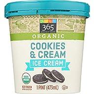365 Everyday Value Organic Cookies & Cream, 16 oz (Frozen)