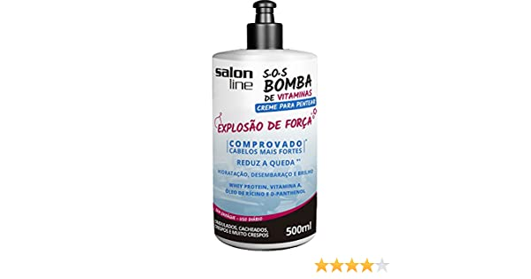 Amazon.com: Linha Tratamento (SOS Bomba de Vitaminas) Salon Line - Creme Para Pentear Explosao De Forca 500 Ml - (Salon Line Treatment (Vitamin Bomb SOS) ...