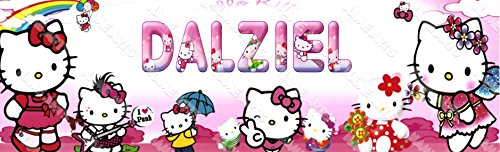 Personalized / Customized Hello Kitty Name Poster Wall Decor Door Birthday Art (Hello Kitty Banner)