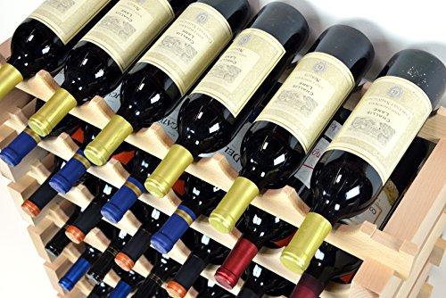 Modular Wine Rack Beechwood 48-144 Bottle Capacity 12 Bottles Across up to 12 Rows Newest Improved Model (120 Bottles - 10 Rows) by sfDisplay.com,LLC. (Image #3)