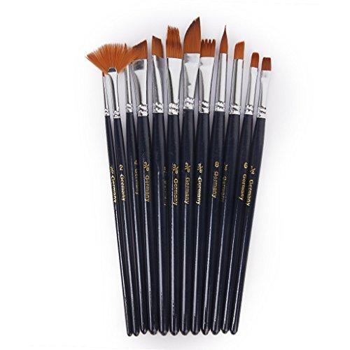 Myoffice 水彩画筆 水彩 油絵用筆 画筆 ペイントブラシ 12本セットの商品画像