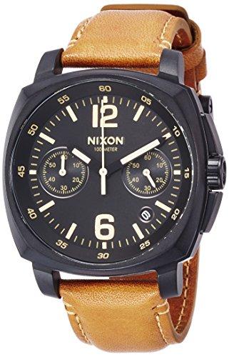 [ニクソン]NIXON CHARGER CHRONO LE: ALL BLK/LT BROWN NA10732447-00