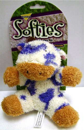 Booda Corporation (Aspen) Booda Softies - Cow - Medium (Dog Toy Booda)