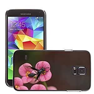 Cas Coq Case Cover // M00147701 Avispa insectos abeja Animal Negro // Samsung Galaxy S5 S V SV i9600 (Not Fits S5 ACTIVE)