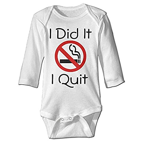 Tara I Did It I Quit Smoking For 6-24 Months Boys&Girls Romper Playsuit For 6-24 Months 6 M White (Usb Did Drive)