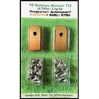 genisys !Titanium mes (Ti3 = 0,75 mm) en schroeven voor Husqvarna Automower®, Gardena® robotmaaier